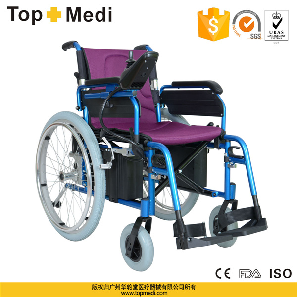 China guangzhou topemdi aluminum economical electric for Motorized wheelchair for sale