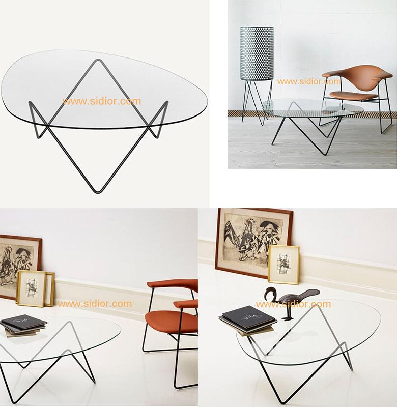 (SD-5003) Modern Hotel Restaurant Living Room Furniture Glass Coffee Table