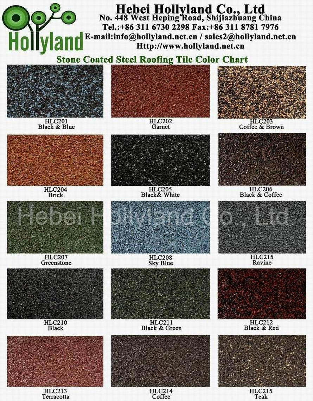 China Stone Coated Steel Roofing Tile Shingle Type