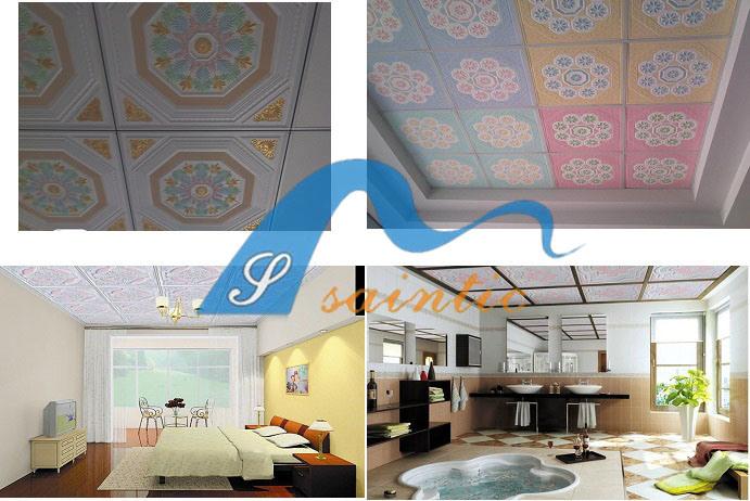 Tegels van het plafond van het gips van grg de akoestische for Gips decor ceiling