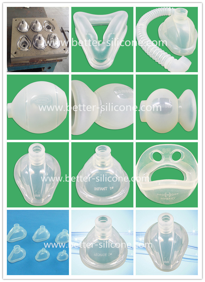 Medical LSR Elastosil Silicone Rubber Mask for Manual Resuscitator