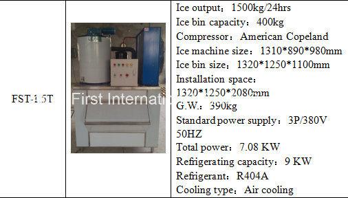 Máquina de fabricación de hielo para la conservación y el procesamiento de alimentos