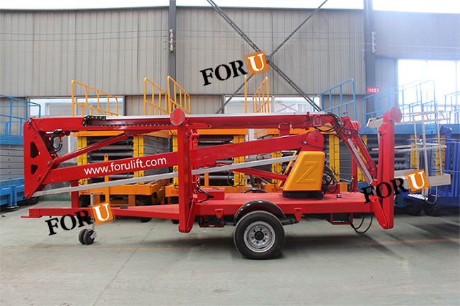16m 52FT Aerial Towable Man Boom Lift for Sale