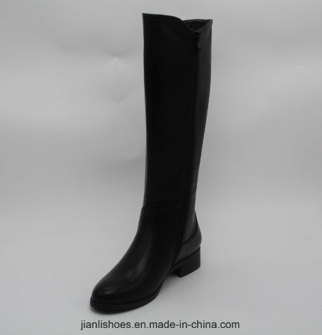 Classic England Style MID-Calf Boots with Buckle and Elastic Decoration (BT717)