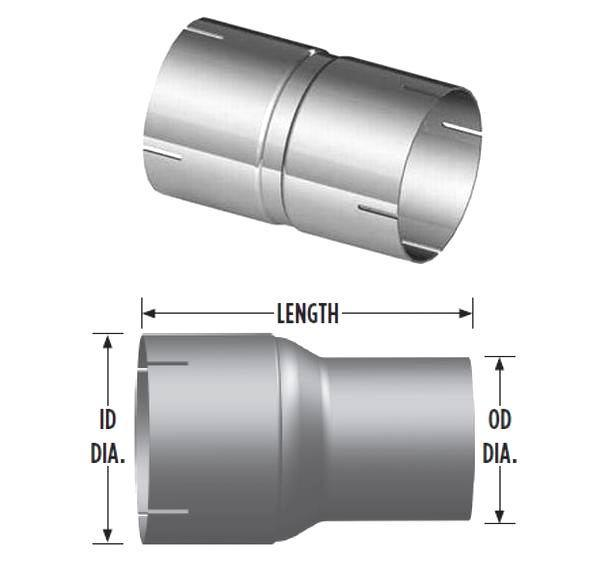 China auto exhaust pipe reducer and adapter inch