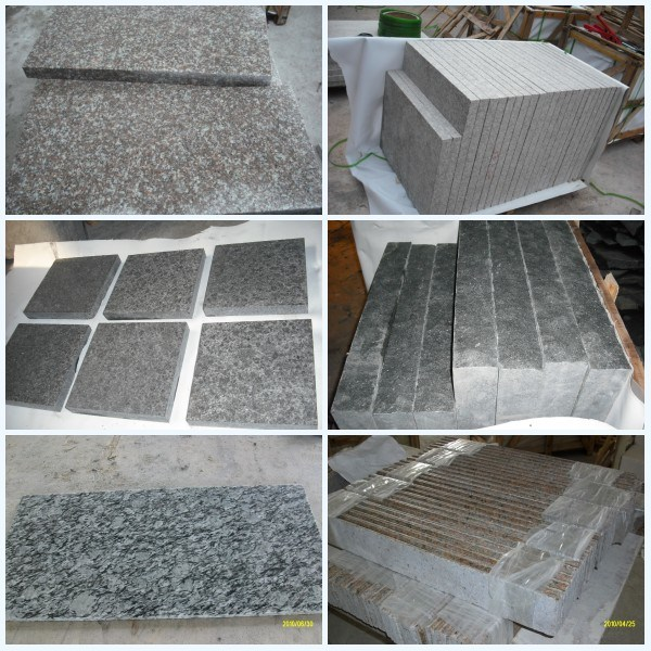 China Own Quarry Flamed Red Granite Tile Flooringfl On: China Grey/Black/Yellow/Red/Green Granite Tiles For Floor