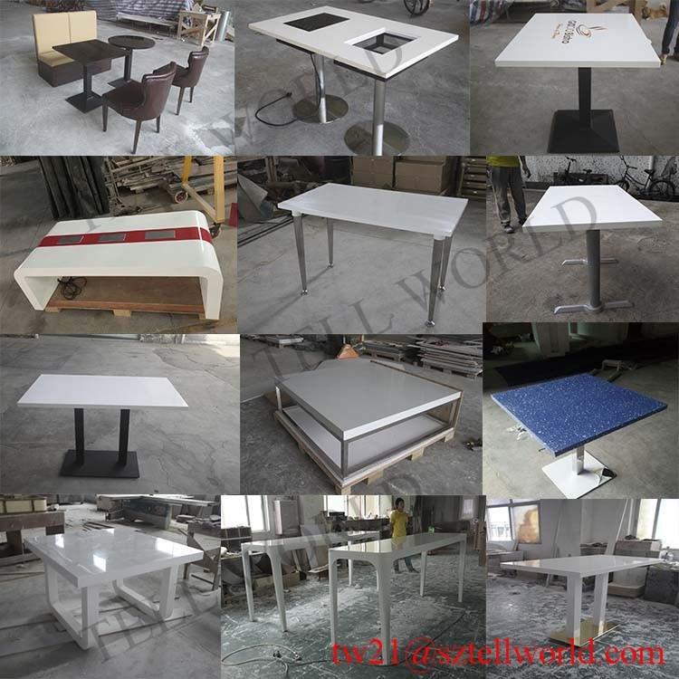 China wholesale restaurant furniture modern corian pure