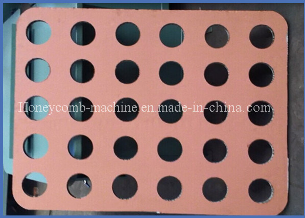2016 Hot Sale Paper Honeycomb Board Round Hole Making Machine