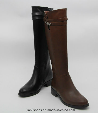 Classic England Style MID-Calf Boots with Surrounded Buckle Decoration (BT716)