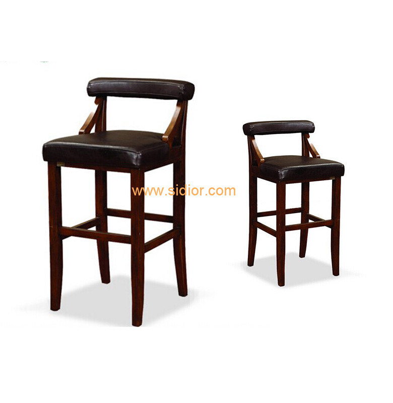 (CL-4404) Luxury Hotel Restaurant Club Furniture Wooden High Barstool Chair