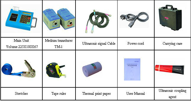 Portable Ultrasonic Flow Meter, Clamp-on Type/Ultrasonic Flow Transducer