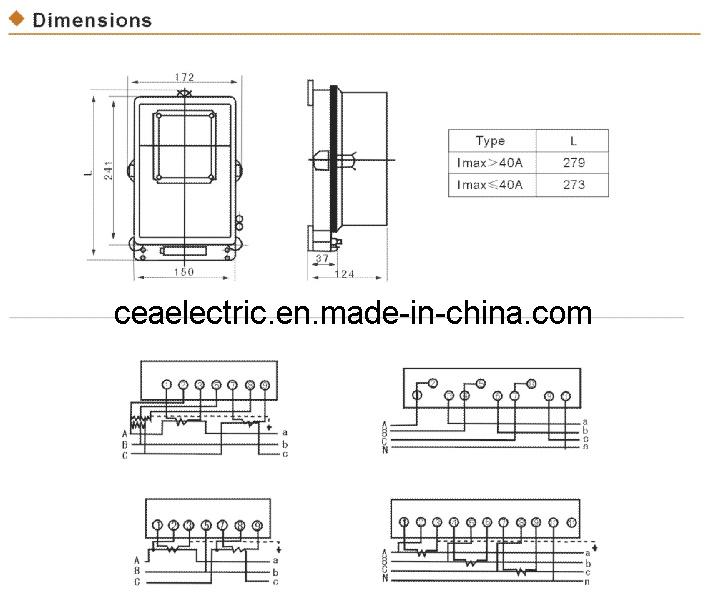 China Three Phase Kilowatt-hour Meter Dt862 Dt8