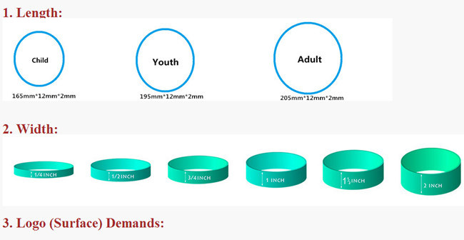 Engraved Silicone Wristbands for Promotional Items