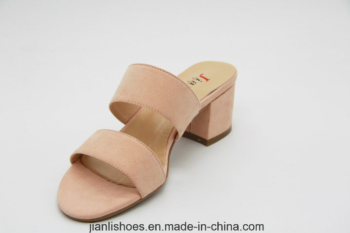 Mules Block Heel Slippers Open Toe Women Sandals (MU200)