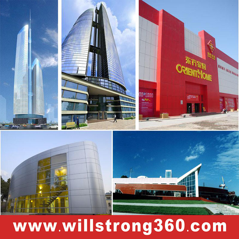 Willstrong Aluminum Composite Panel Spectural Color for Curtain Wall