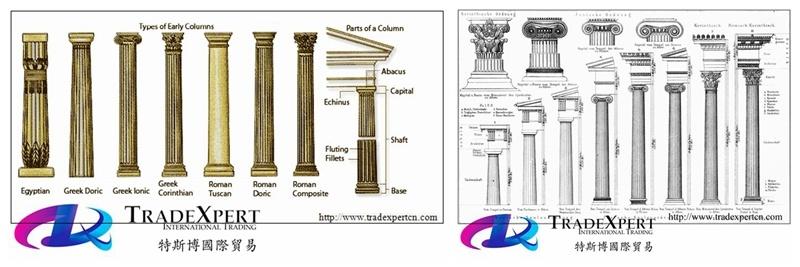 장식 건물을%s 고대 작풍 화강암 또는 대리석 돌 로마 기둥 란 ...