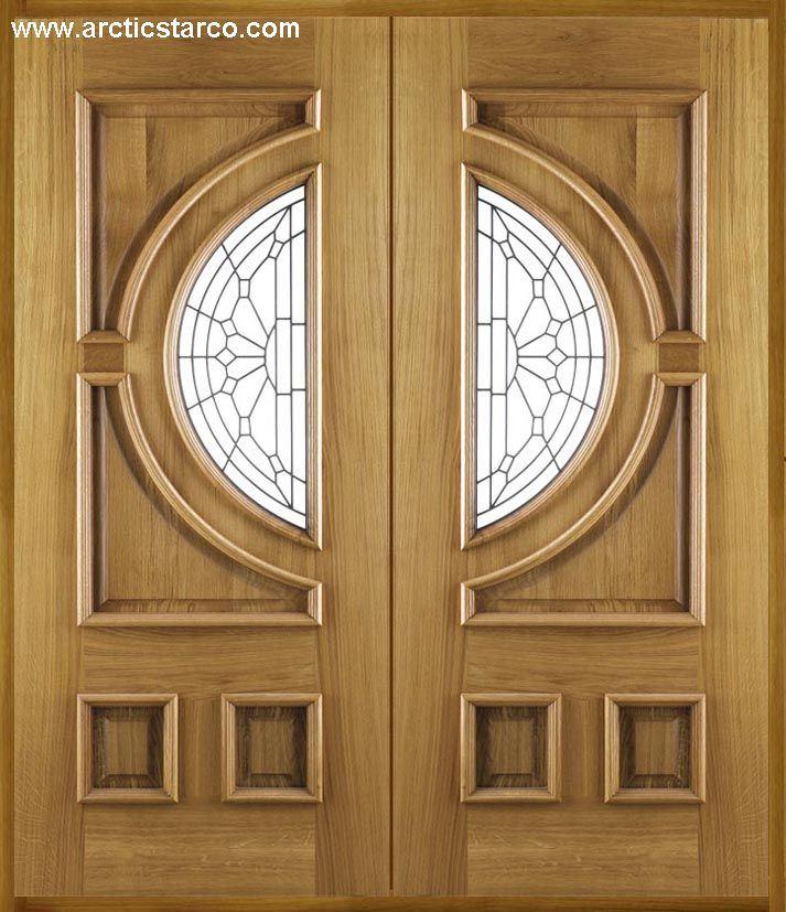 Puerta doble hoja madera materiales de construcci n para for Puerta doble hoja exterior
