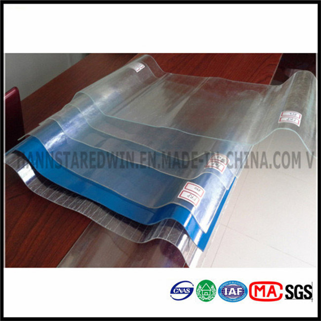 China Transparent Roof Tile Frp Flat Sheet Clear Plastic