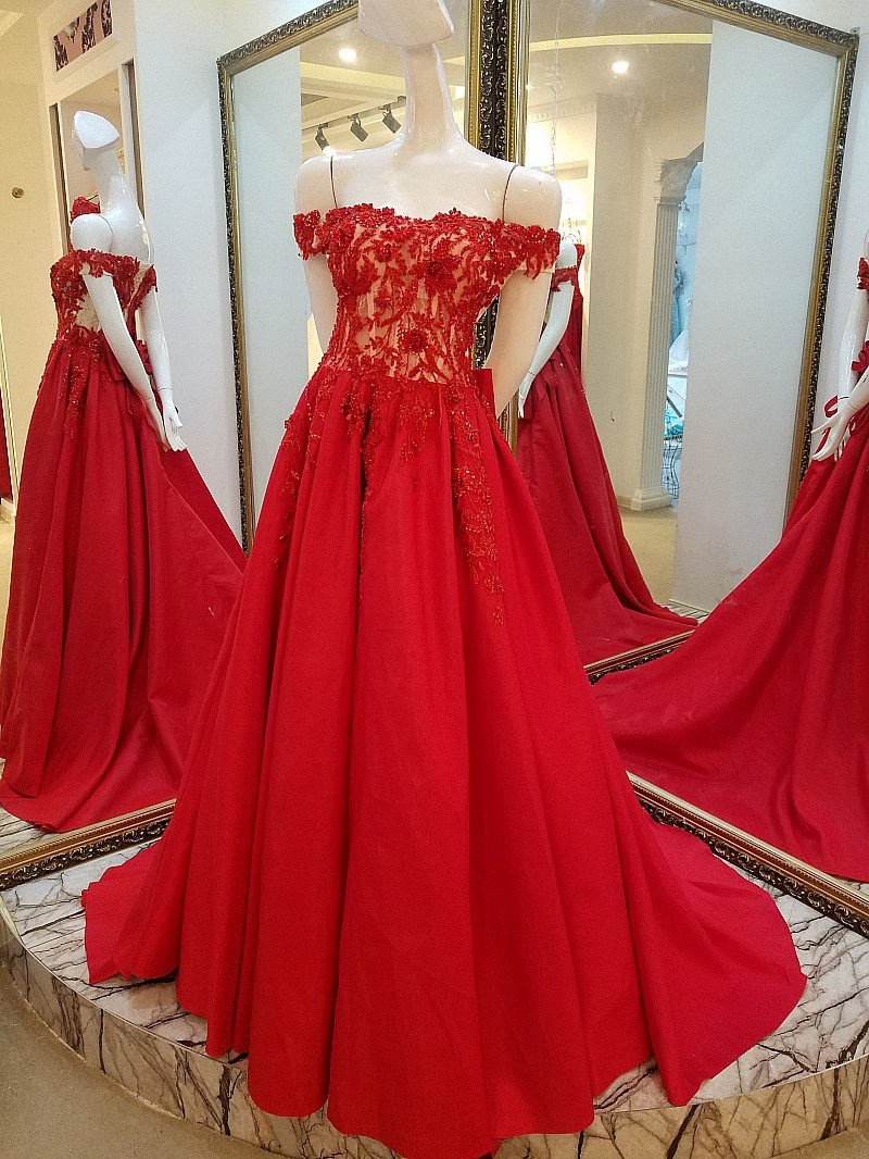 Red And Gold Wedding Dress - Wedding Dresses