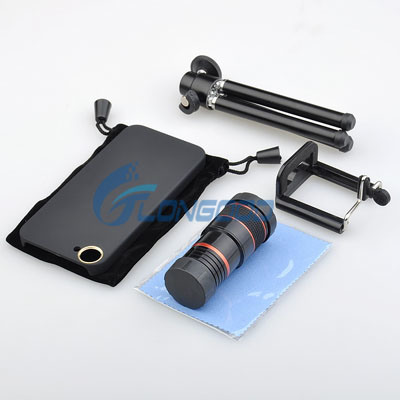 Optical 8X Zoom Telephoto Telescope Camera Lens Kit Back Case Cover for iPhone 5