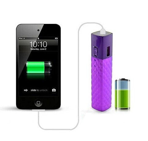 1800~2600mAh Customized Color LED Torch Power Bank for Mobile (AM-PB45)