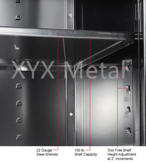 Het op zwaar werk berekende kabinet van de opslag van de garage van de bouw van het staal zwarte - Meubilair storage zwart ...