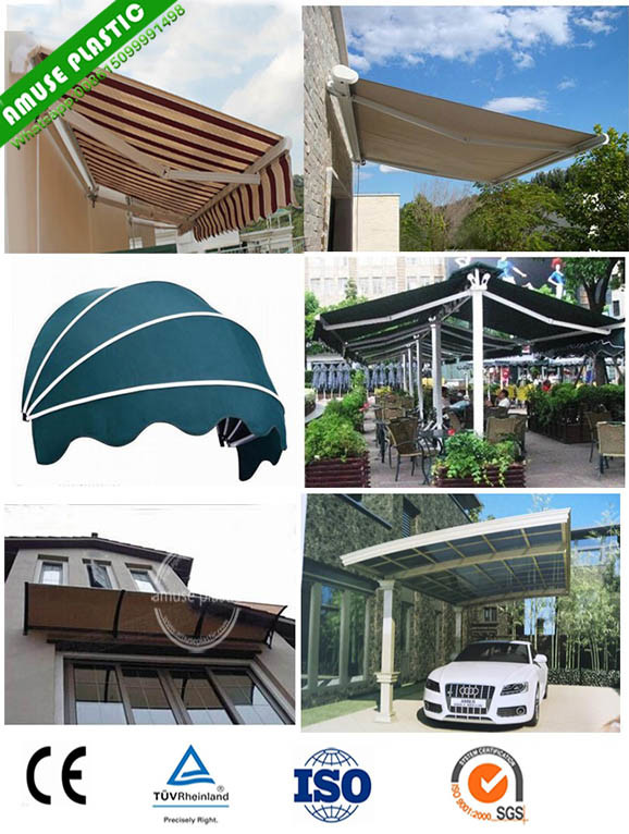 China Outdoor Manual Aluminum Retractable Awning Window
