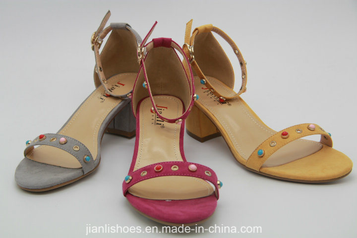 Classic Style Flat Sandals with Beads Decoration (HSA34)