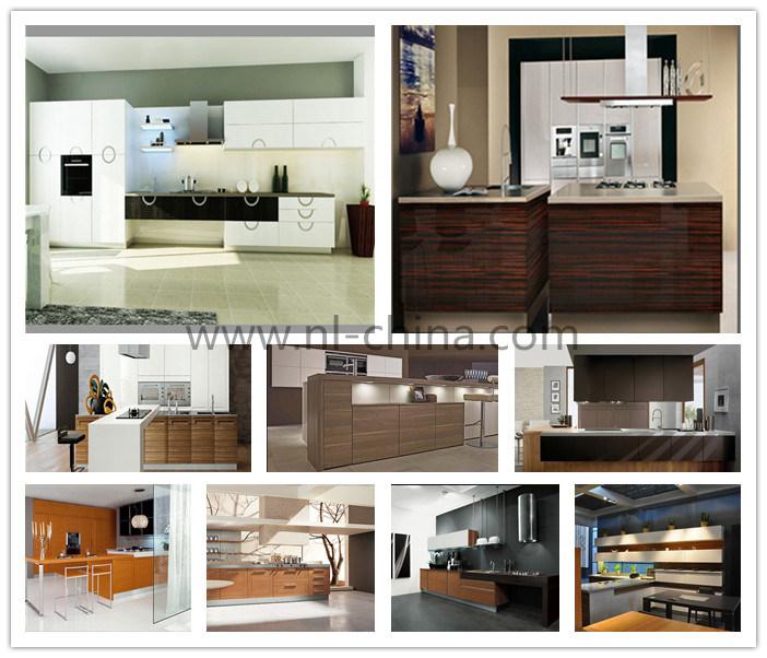 China Engineered Wood Veneer Kitchen Cabinet With Blum Hardware