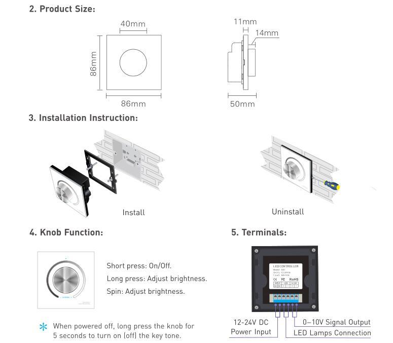 ltech dimming knob panel dc12v~24v input d61 manual ltech dimming knob panel dc12v~24v input d61