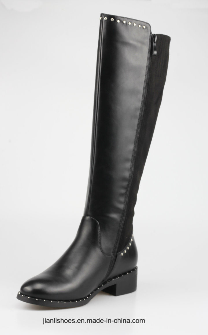 2018 England Style MID-Calf Rivet Boots Women Shoes (BT740)