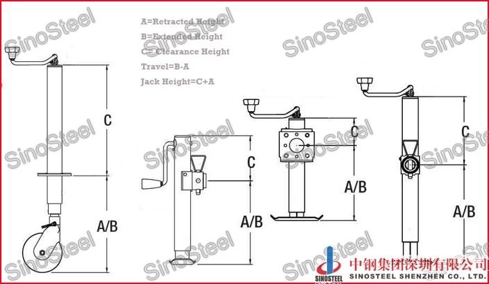 china 7000 lbs drop leg square jacks sidewind 15 u0026quot  travel
