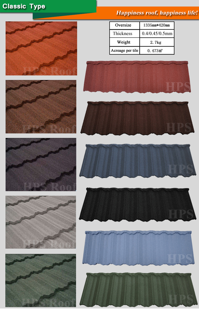 China Warehouses Roofing Material Stone Coated Roofing