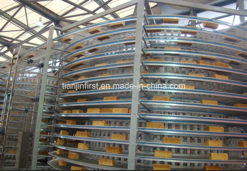 High Quality Fully Automatic Spiral Cooling Tower for Baking Industry