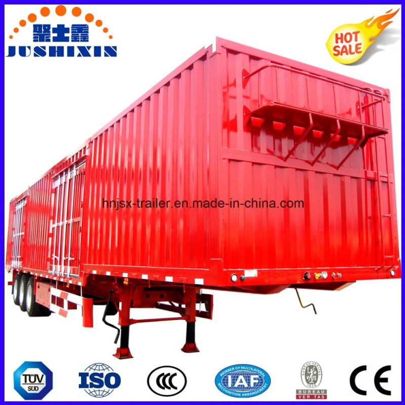 Enclosed Box Trailer Tandem Axle Heavy Tractor Truck Cargo Utility Semi Trailer