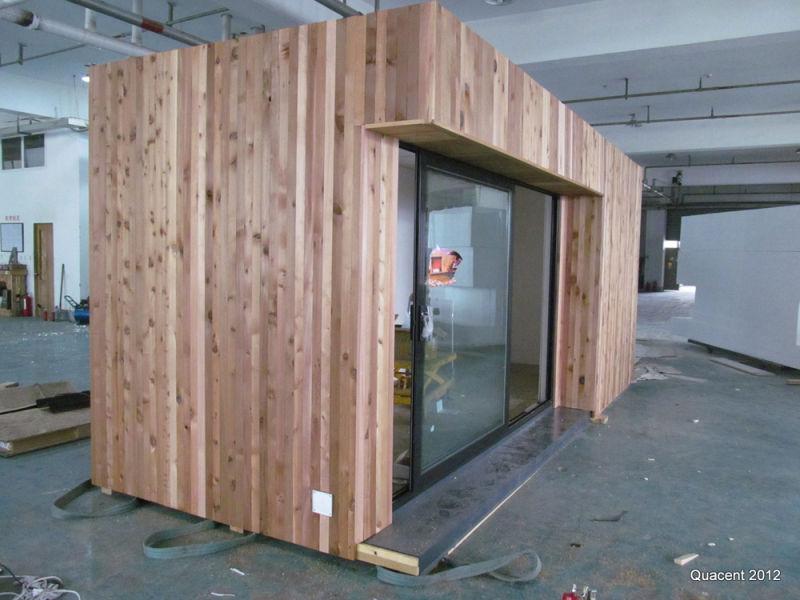 Het prefab huis van de houten container van het slokje het prefab huis van de houten container - Huis in containers ...