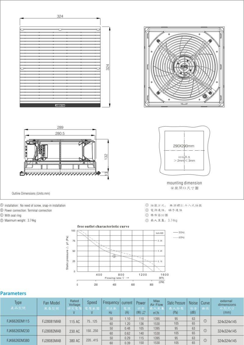 Widely Used Air Filter Air Compressor Fjk6626dm230