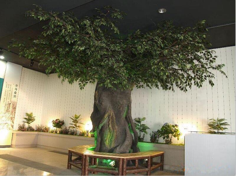 arbre artificiel feuilles persistantes d 39 int rieur de ficus de banian de conception unique. Black Bedroom Furniture Sets. Home Design Ideas