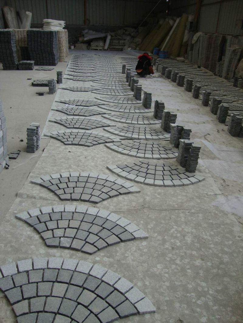 Granite Cobblestone Pavers : Paver paving stone cobblestone tumbled flamed split