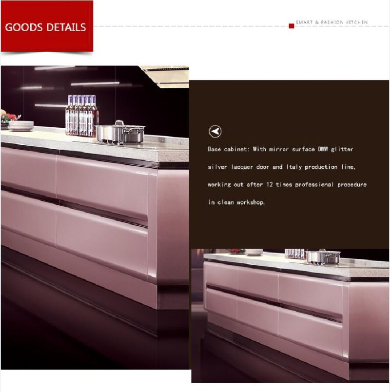 Kenya Fashionable Customized Melamine And Hpl Kitchen: China Wise & Fashion Space BMW Glitter Silver Lacquer