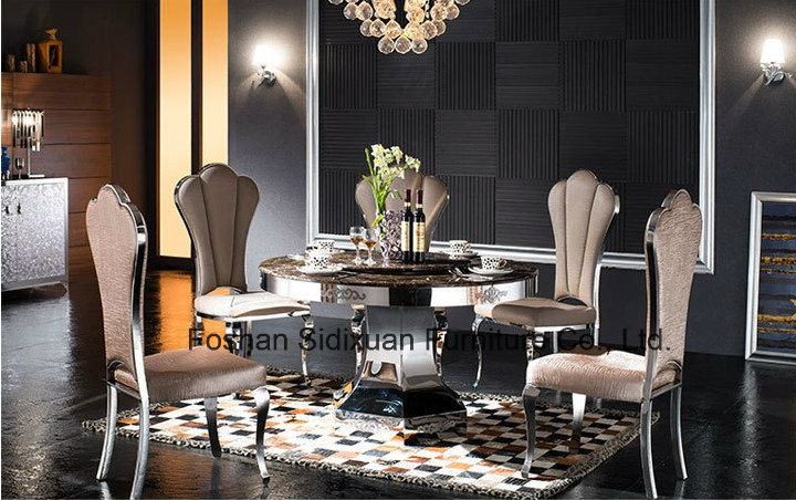 Modern Hotel Dining Chair Stainless Steel Restaurant Furniture