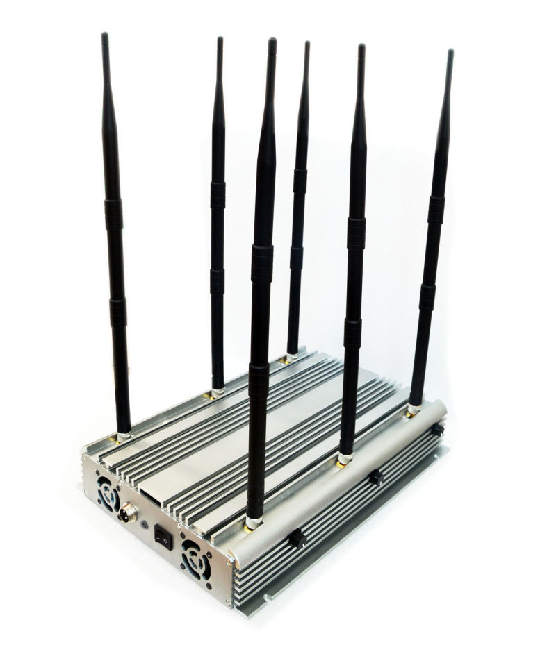 90W Stationary 6bands Cellphone, Wi-Fi, Lojack, GPS Jammer/Blocker: Cpj-X690