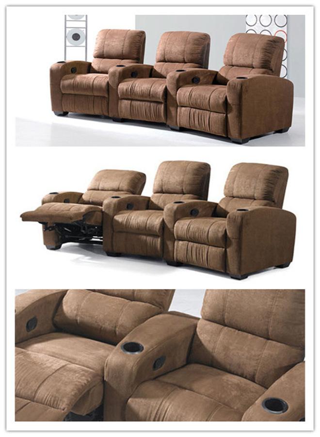 Sof muebles caseros reclinable sof de la tela cine - Sillon home cinema ...