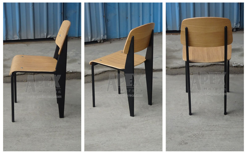 China Steel Dining Chair Replica Metal Industrial Chair Cafe