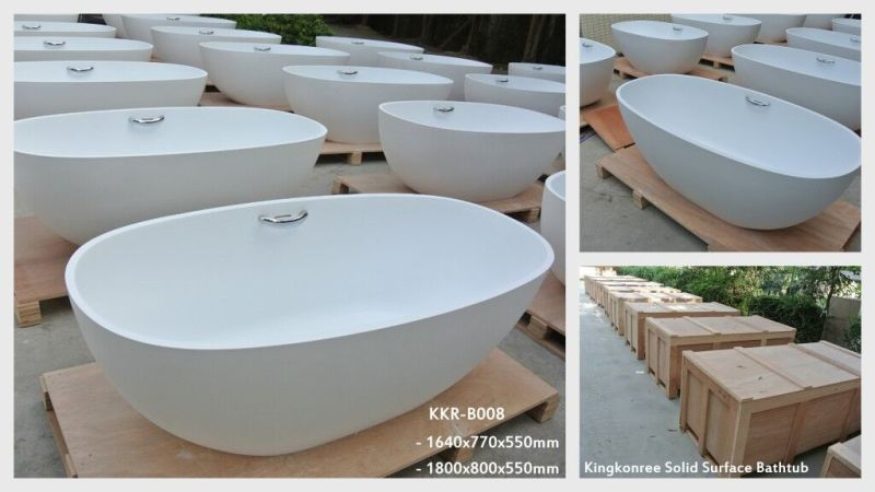 Solid Surface Glossy Moon Shape Modern Bath from China ...