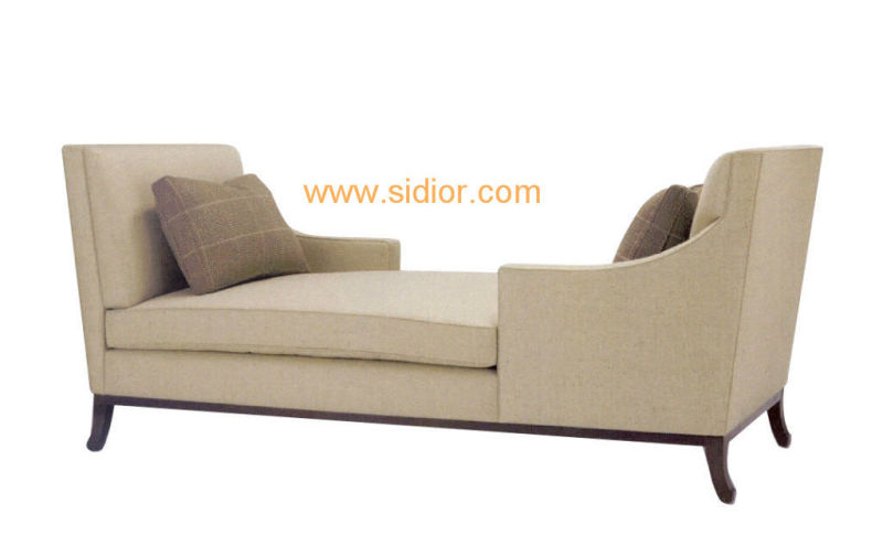 (CL-6632L) Classic Villa Hotel Room Furniture Fabric Leisure Sleeping Lounge