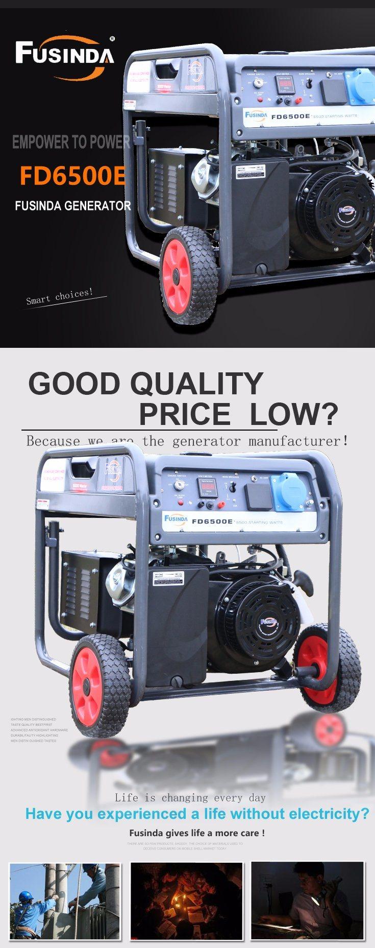 5kw Gasoline Generator Petrol Fd6500e