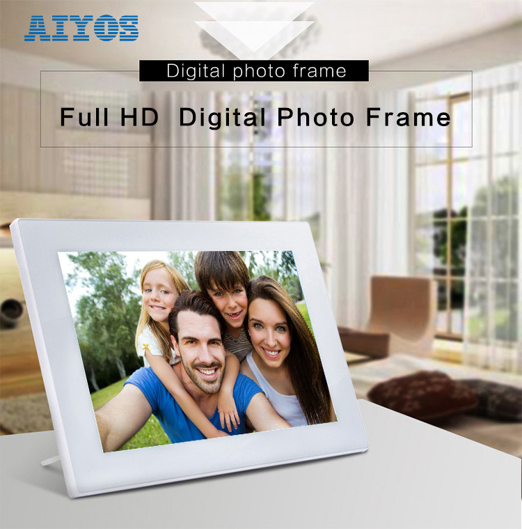 LCD Display New IPS Screen Digital Photo Frame with LED Backlight as Christmas Gift