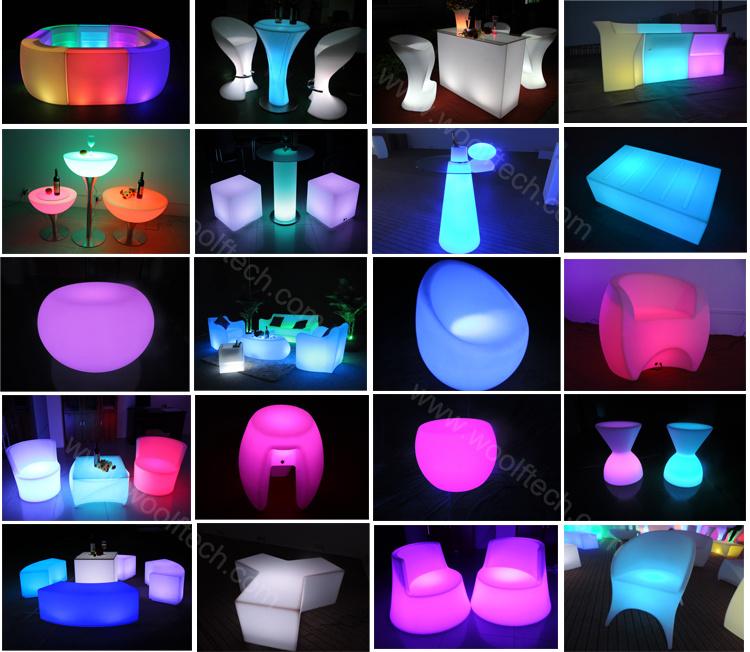 China Design Acrylic Illuminated LED Light Furniture Sofa