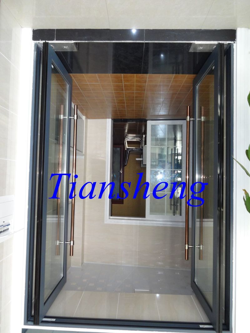 China Aluminium Floor Spring Door Aluminium Spring Hinge Door for Entrance Do...